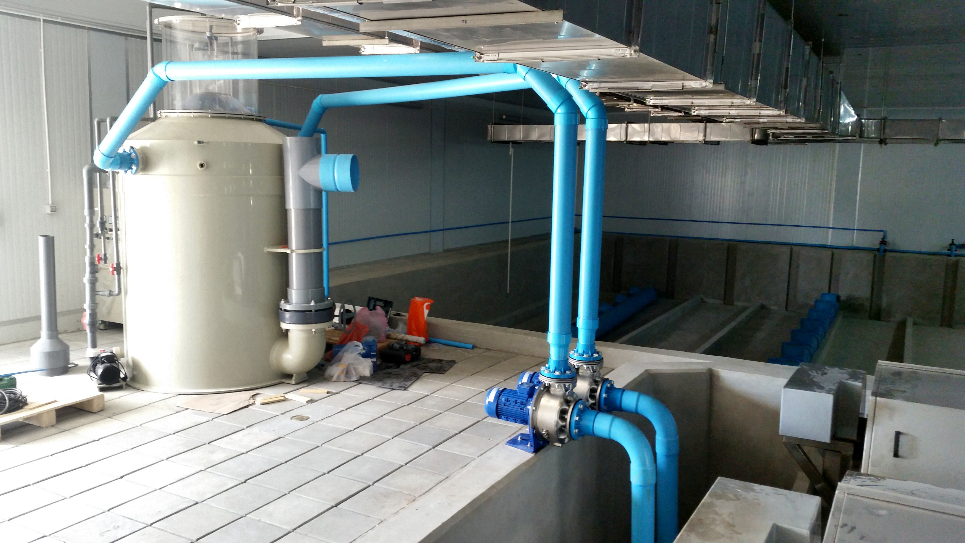 connected pumps with  big skimmer